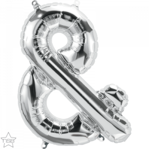16 IN FOIL AMPERSAND SILVER AIR FILLED 1CTP