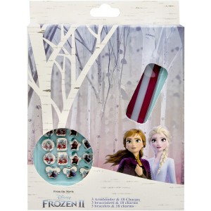 FROZEN 2 - 3 BRACELETS WITH 18 CHARMS
