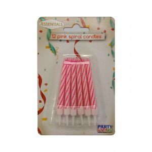CANDLES PWU BIRTHDAY PINK 12CT