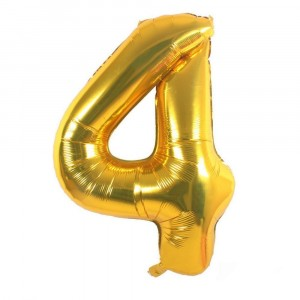 12 INCH AIRFILLED GOLD FOIL BALLOON 4 1CTP