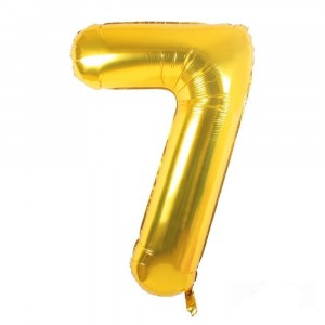 12 INCH AIRFILLED GOLD FOIL BALLOON 7 1CTP