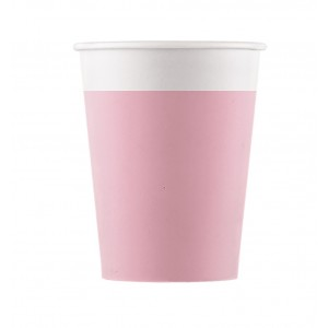 ECO COMP IND PINK PAPER CUPS 200ML 8CT