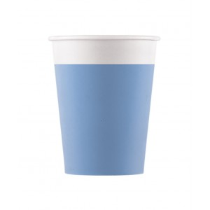 ECO COMP IND LBLUE PAPER CUPS 200ML 8CT