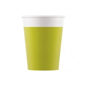 ECO COMP IND LGREEN PAPER CUPS 200ML 8CT