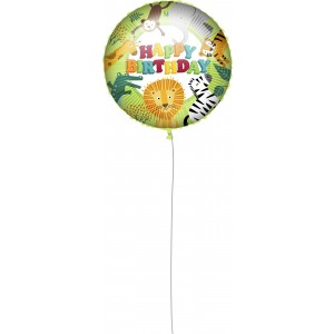 18 INCH AIR-HELIUM FOIL BIRTHDAY JUNGLE 1CTP