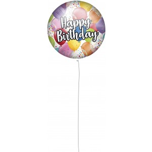 18 INCH AIR-HELIUM FOIL  BIRTHDAY 1CTPS 1CTP