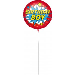 18 INCH AIR-HELIUM FOIL  BIRTHDAY SUPERHERO 1CTP