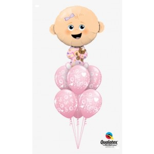 14 INCH FOIL BABY GIRL 1CTL