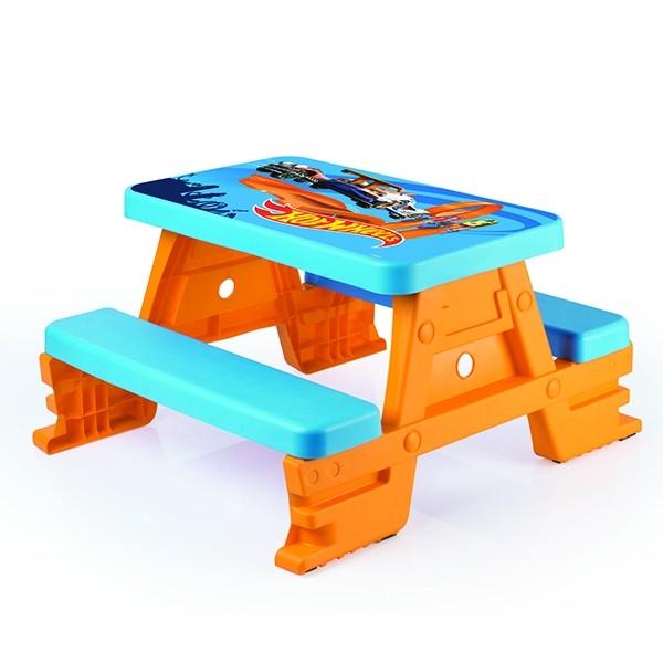 Hot Wheels პიკნიკის მაგიდა 4 პერსონაზე